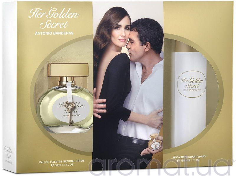Antonio Banderas Her Golden Secret Набор edt 50 ml+deo 150 ml