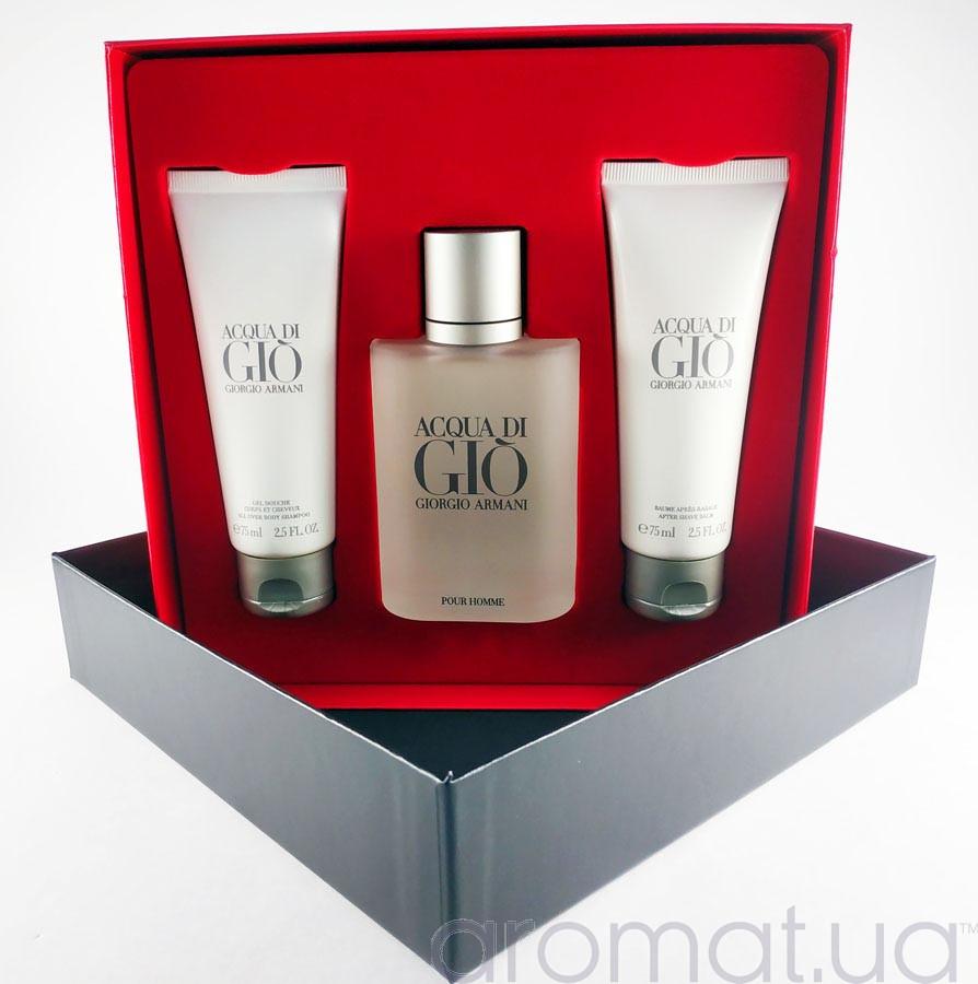 Armani Acqua di Gio Pour Homme Набор edt 100ml+sh/gel 75ml+afsh 75ml