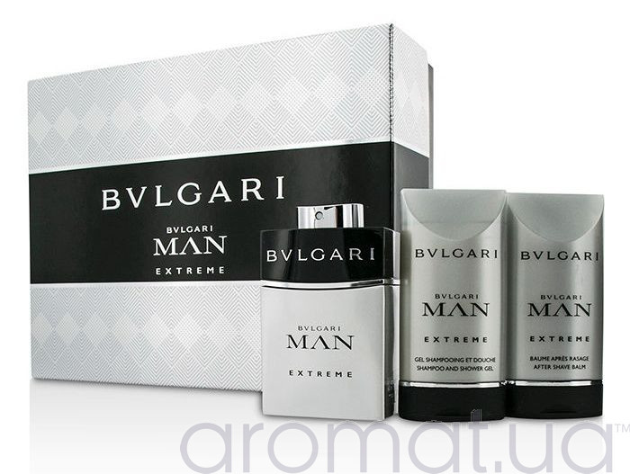 Bvlgari Man Extreme Набор edt 60ml+ash/bal 75ml+sh/gel 75ml