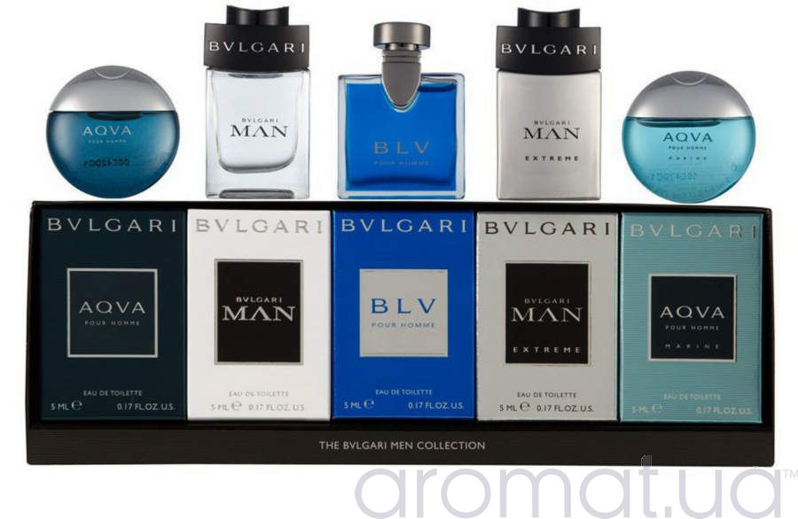 Bvlgari Men Collection Набор миниатюр 5 шт