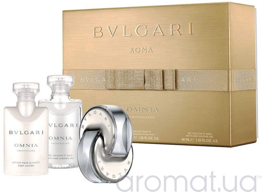 Bvlgari Omnia Crystalline Набор edt 40 ml+b/lotion 40 ml+sh/gel 40 ml