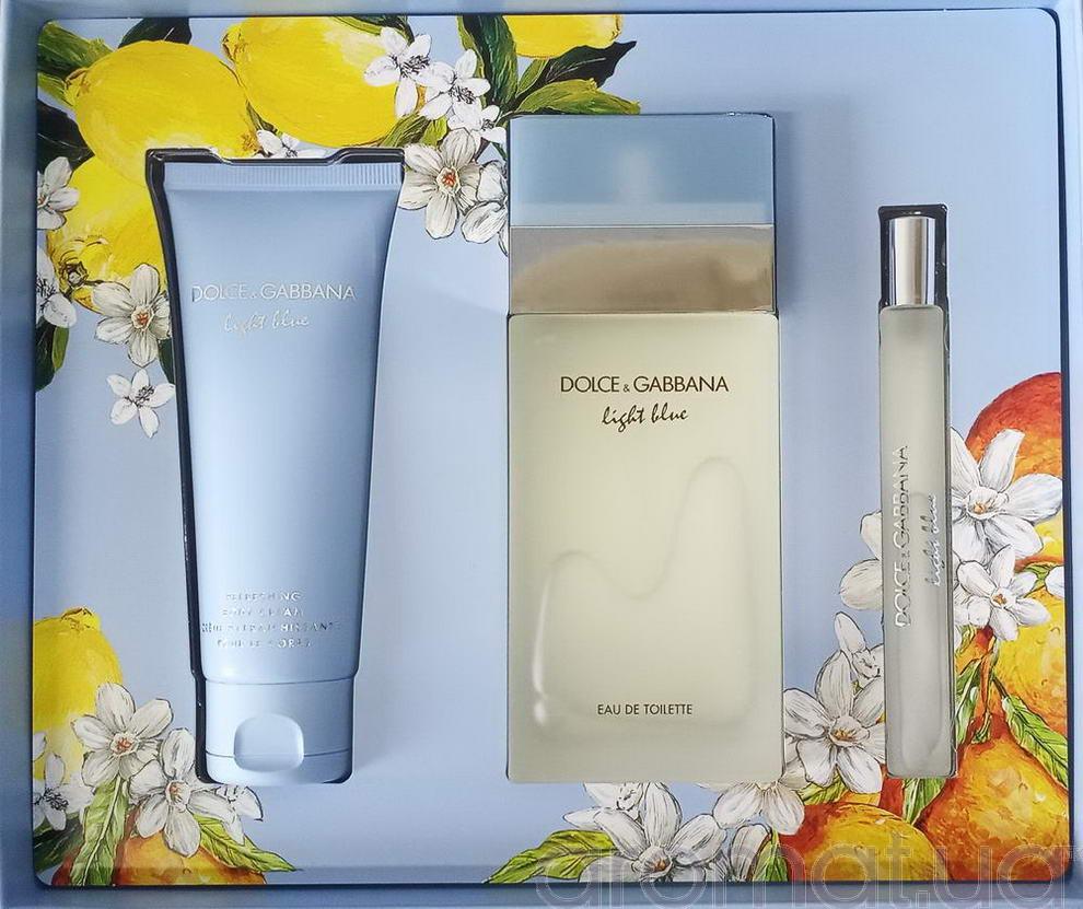 Dolce & Gabbana Light Blue Набор edt 100ml+b/cream 50ml+edt 10ml