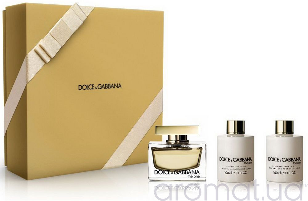 Dolce & Gabbana The One for Women Набор edp 75m+100ml b/lotion+100ml sh/gel