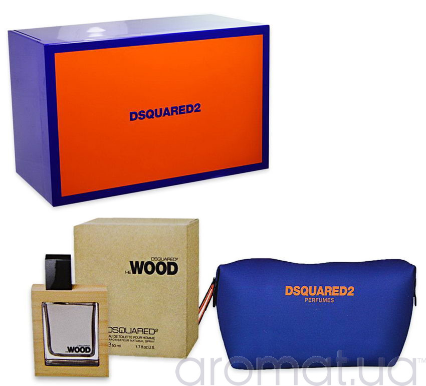 Dsquared2 He Wood Набор edt 50 ml+Косметичка