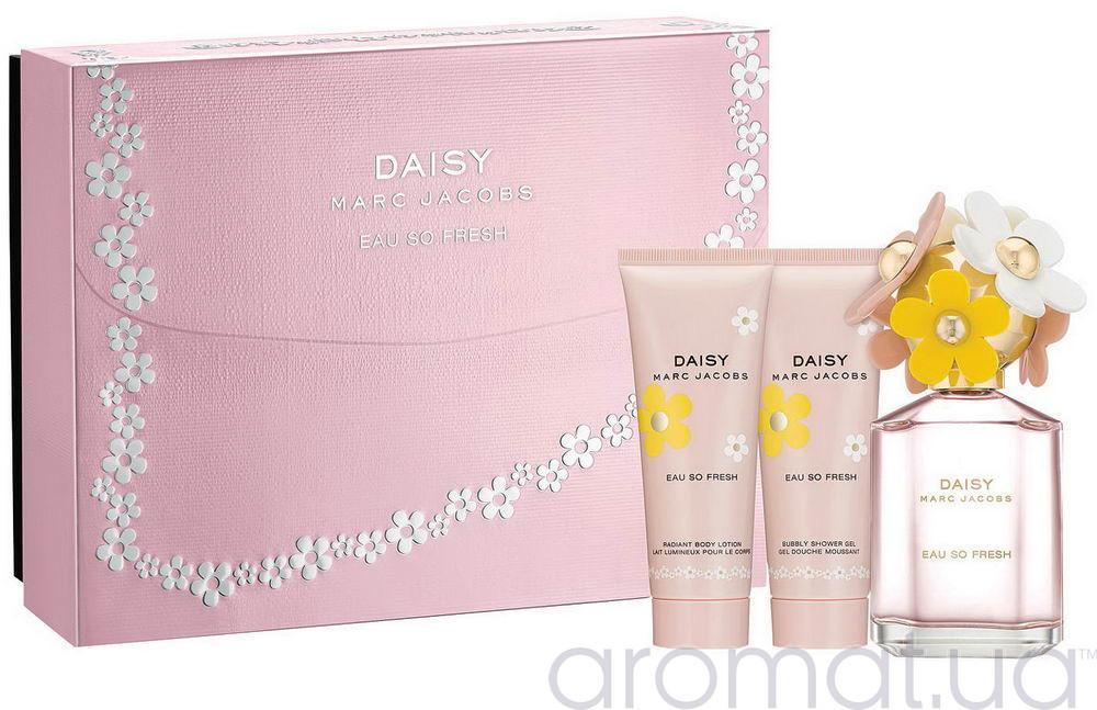 Marc Jacobs Daisy Eau So Fresh Набор edt 75ml+75ml sh/gel+75ml b/lotion