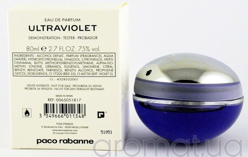 Paco Rabanne Ultraviolet Woman Тестер