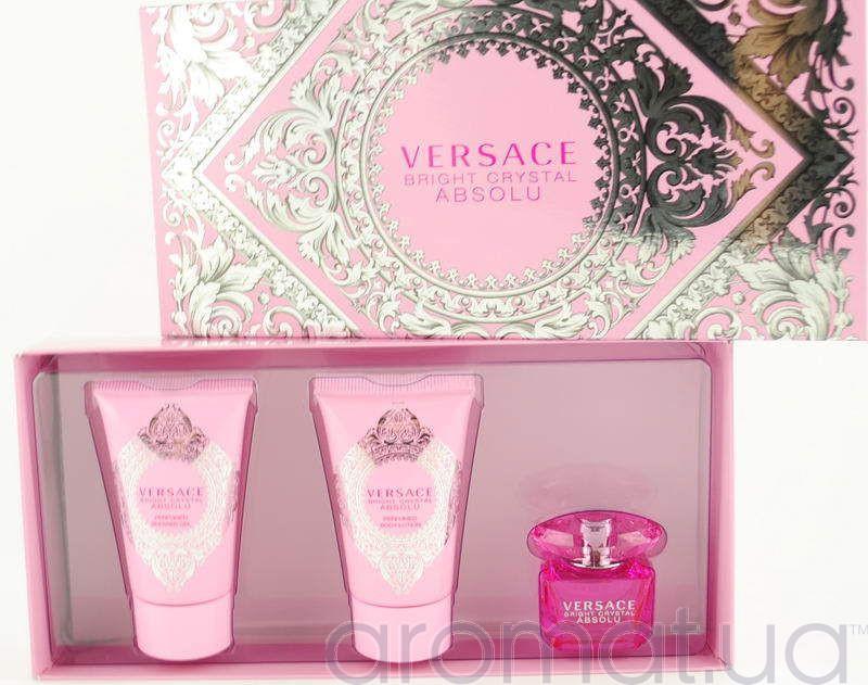 Versace Bright Crystal Absolu Набор edp 5ml+b/lotion 25ml+sh/g 25ml