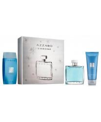 Azzaro Chrome Набор edt 100ml+ash/bal 75ml+shampoo 75ml