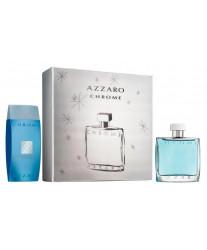 Azzaro Chrome Набор edt 100ml+shampoo 200ml