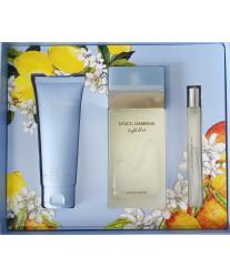 Dolce & Gabbana Light Blue Набор edt 100ml+ b/cream+ edt 10ml