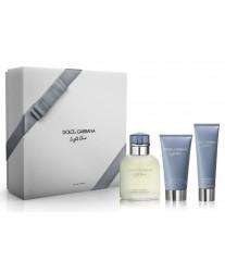 Dolce & Gabbana Light Blue pour Homme Набор edt 125ml+a/sh balm 75ml+sh/gel 50ml