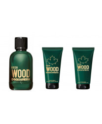Dsquared2 Green Wood pour Homme Набор edt 5ml+sh/gel 25ml+ash/bal 25ml