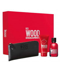 Dsquared2 Red Wood pour Femme edt 100ml+sh/gel 100ml+Кошелек