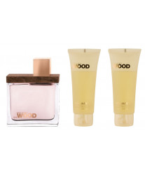 Dsquared2 She Wood Набор edp 100ml+b/lotion 100ml+sh/gel 100ml