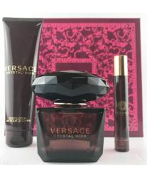 Versace Crystal Noir Eau de Toilette Набор edt 90ml+ edt 10ml+ blotion 150ml